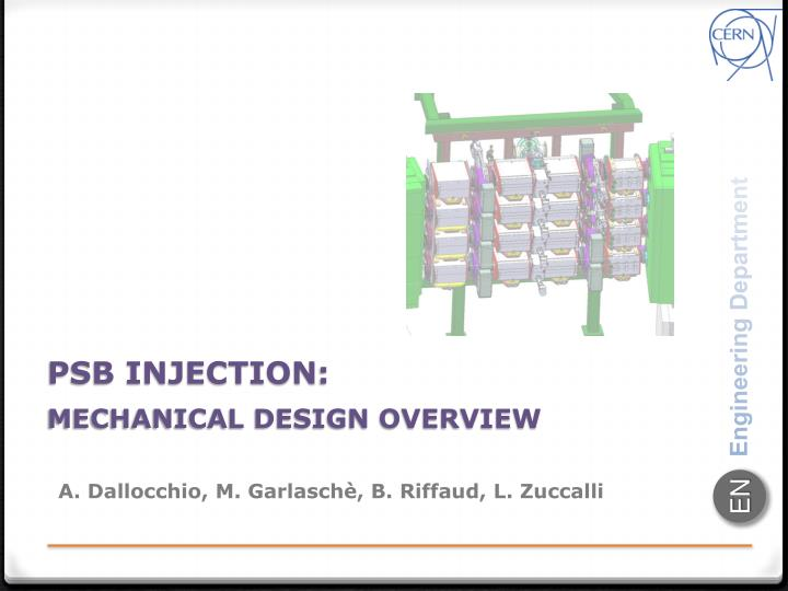 psb injection mechanical design overview n.