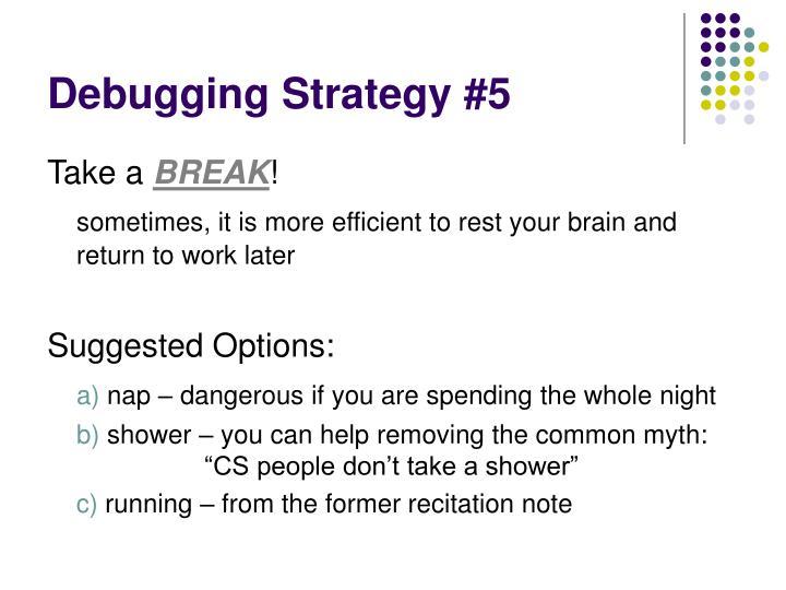 Debugging Strategy #5