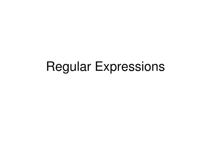 regular expressions n.