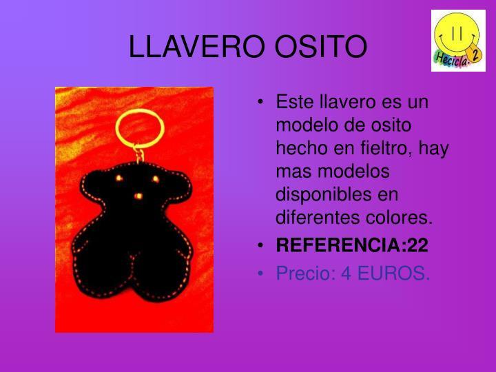 LLAVERO OSITO