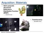 acquisition materials