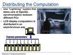 distributing the computation