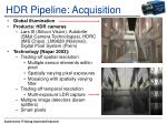 hdr pipeline acquisition