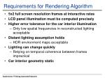 requirements for rendering algorithm