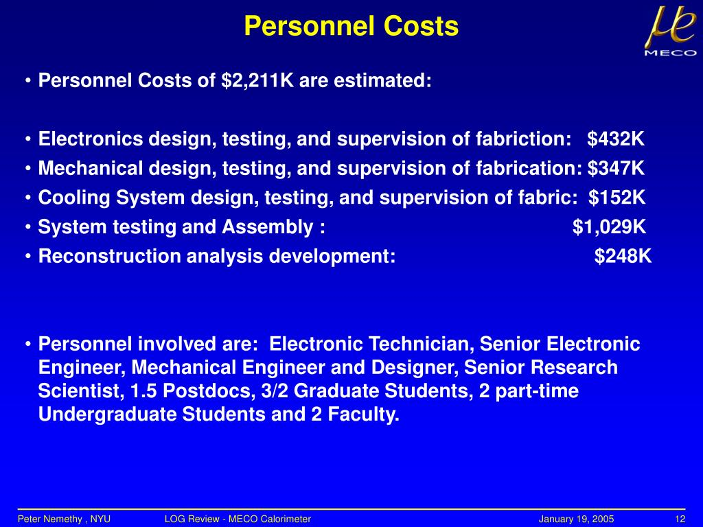 PPT - MECO ELECTRON CALORIMETER PowerPoint Presentation - ID:3775311