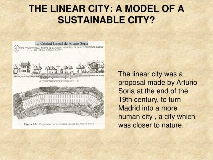 the linear city a model of a sustainable city n.