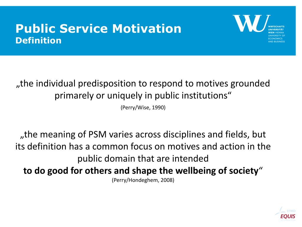 Ppt Public Service Motivation Powerpoint Presentation Id 3775433
