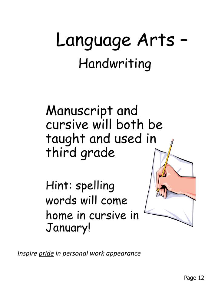Language Arts –