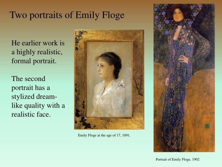 Two portraits of Emily Floge