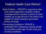 federal health care reform