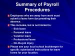 summary of payroll procedures
