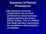 summary of payroll procedures1