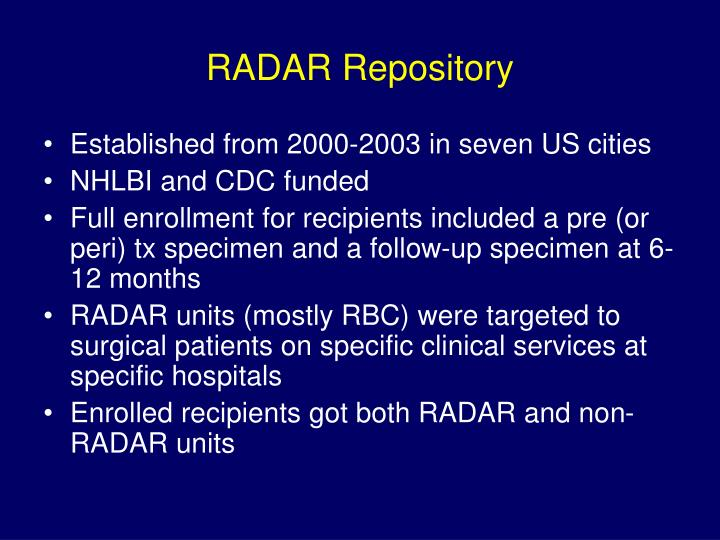 Radar repository
