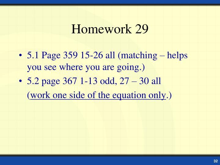 Homework 29