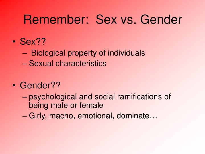 "gender and individual identity Gender, stone argues, ""does not automatically take shape of our male and female biologies gender is rather something that all of us invent, modify, and reinvent as we go about the business of leading our individual and collective lives"" (""introduction"" 2."