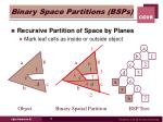 binary space partitions bsps