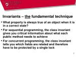invariants the fundamental technique