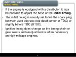 ignition timing initial timing