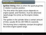 ignition timing the need for spark advance