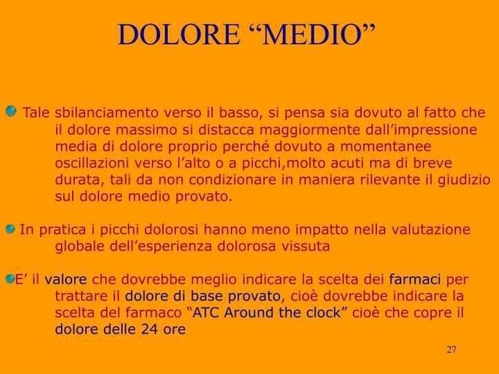 "DOLORE ""MEDIO"""