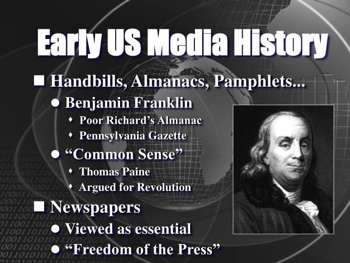 Early US Media History