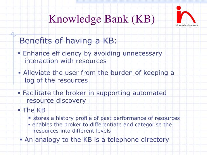 Knowledge Bank (KB)