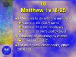 numeric test applied to matthew 1v18 25