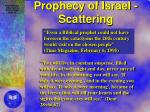prophecy of israel scattering