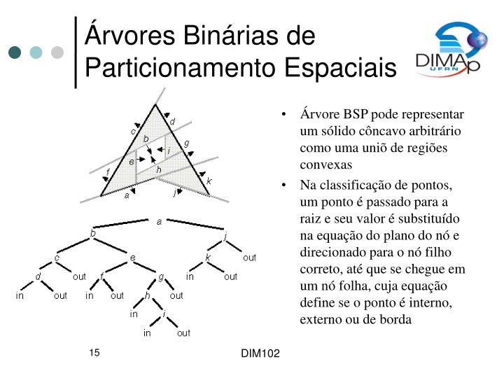 Árvores Binárias de Particionamento Espaciais