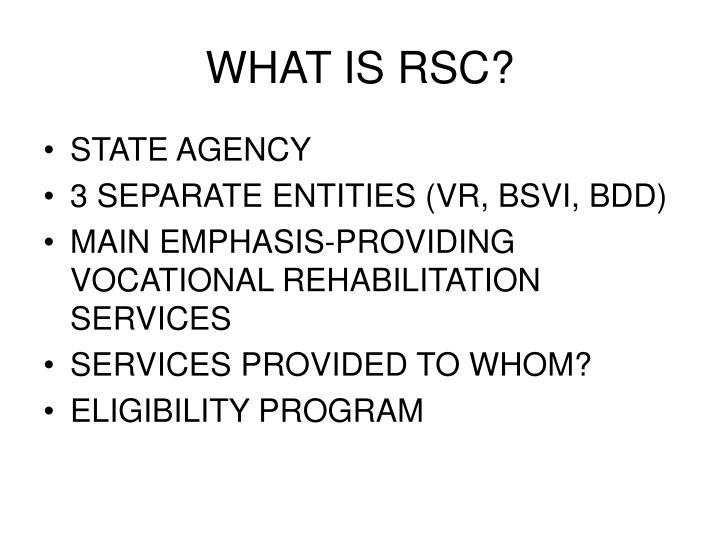 What is rsc