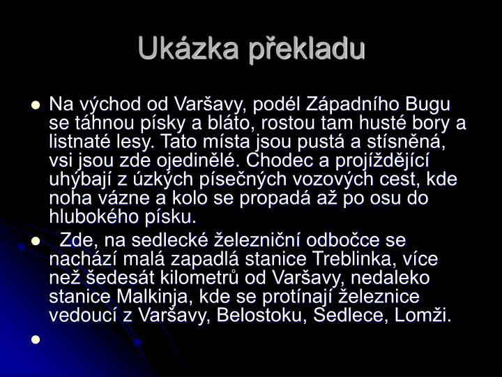 Ukázka překladu