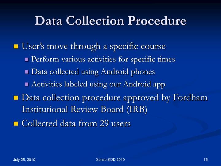 Data Collection Procedure