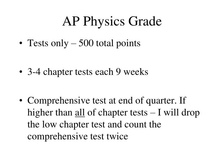 AP Physics Grade