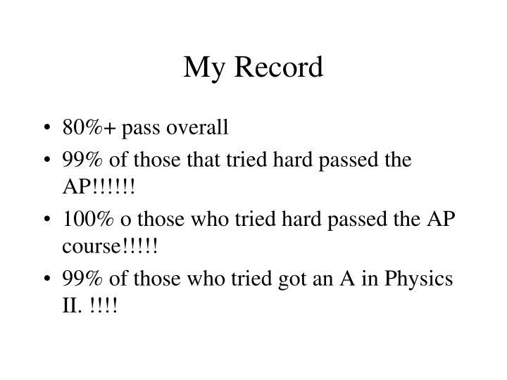 My Record