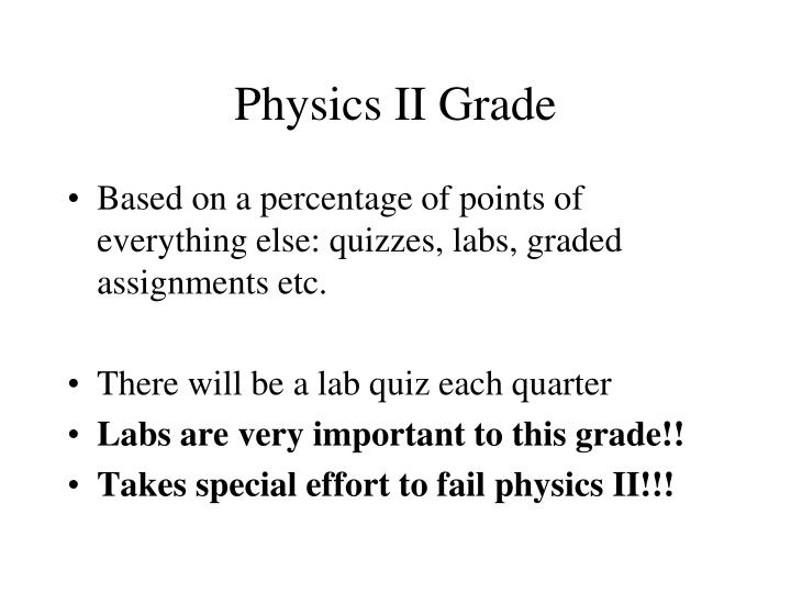 Physics II Grade