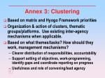 annex 3 clustering