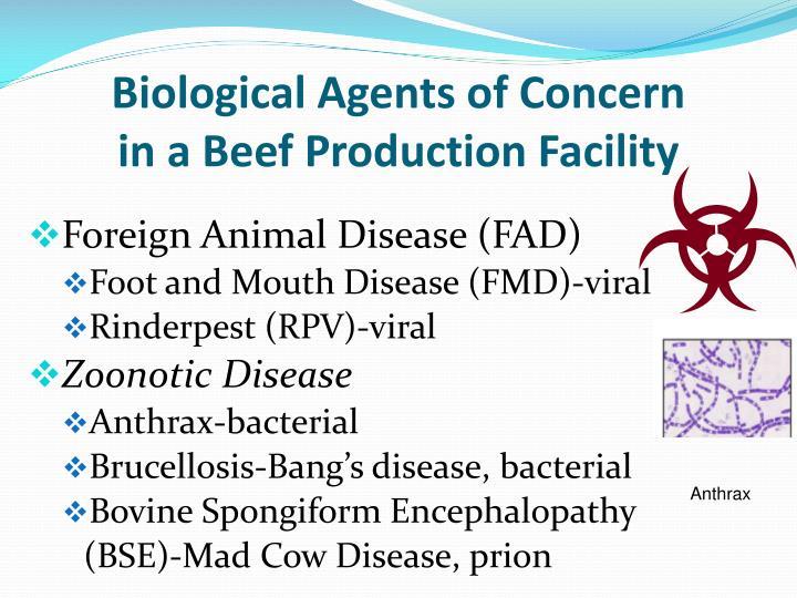 Biological Agents of Concern