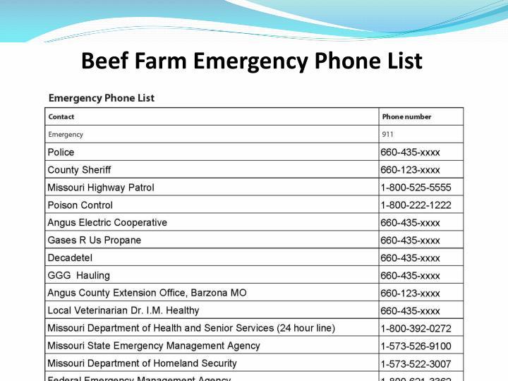 Beef Farm Emergency