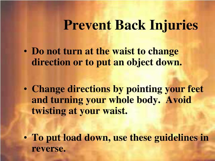 Prevent Back Injuries