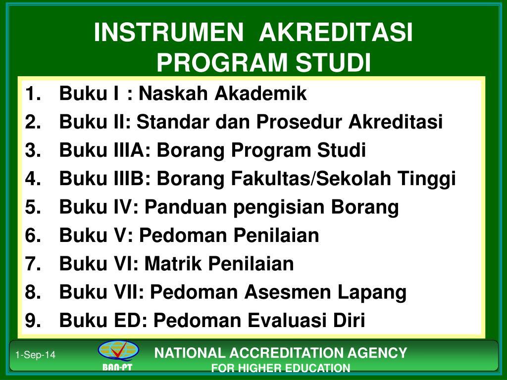 Ppt Standar Dan Prosedur Akreditasi Program Studi Diploma