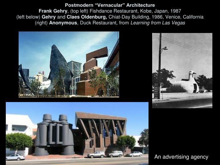 "Postmodern ""Vernacular"" Architecture"