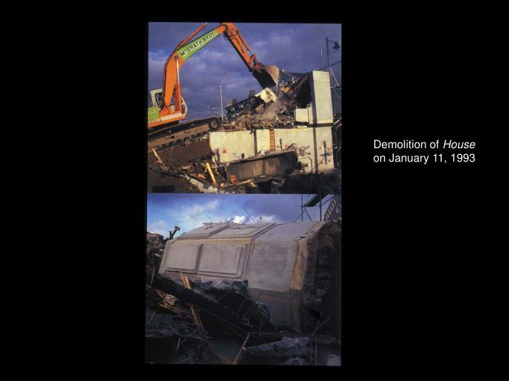 Demolition of