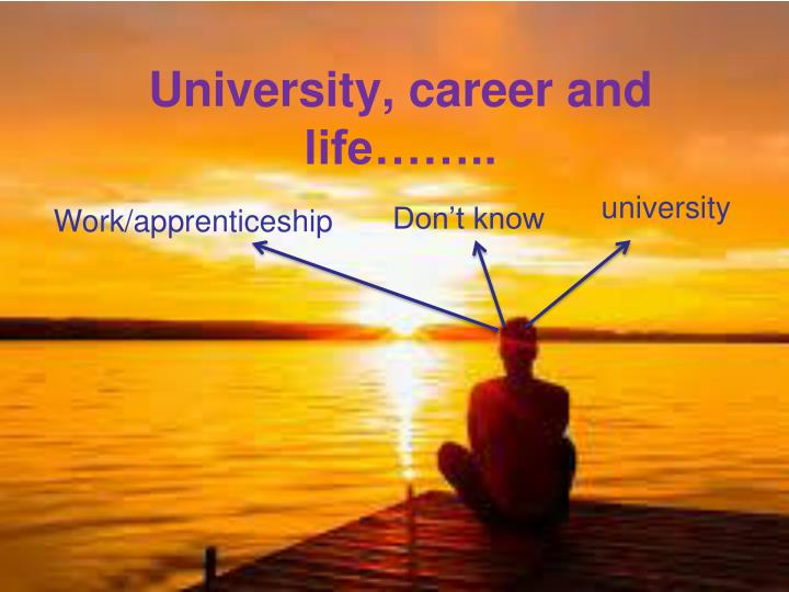 University, career and life……..