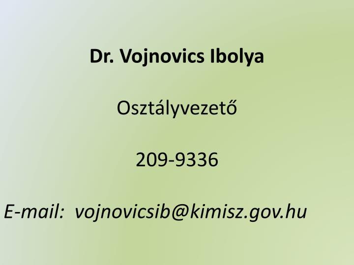 Dr. Vojnovics Ibolya