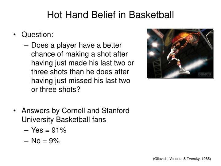 Hot Hand Belief in Basketball