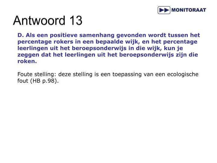 Antwoord 13