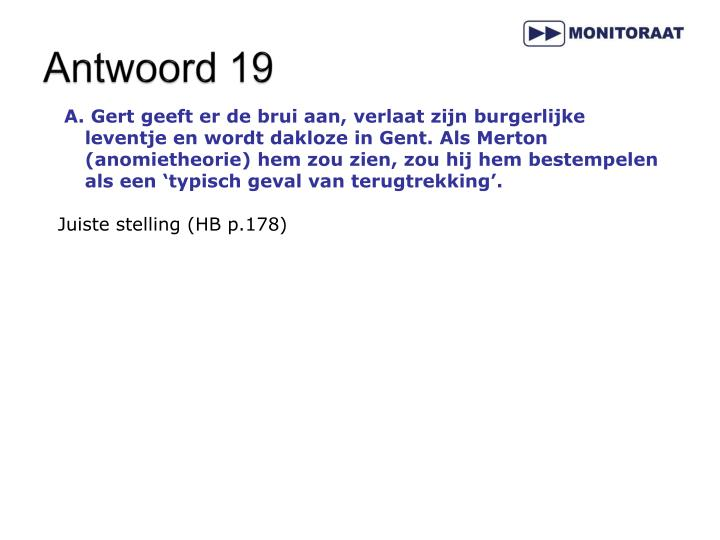 Antwoord 19