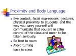 proximity and body language