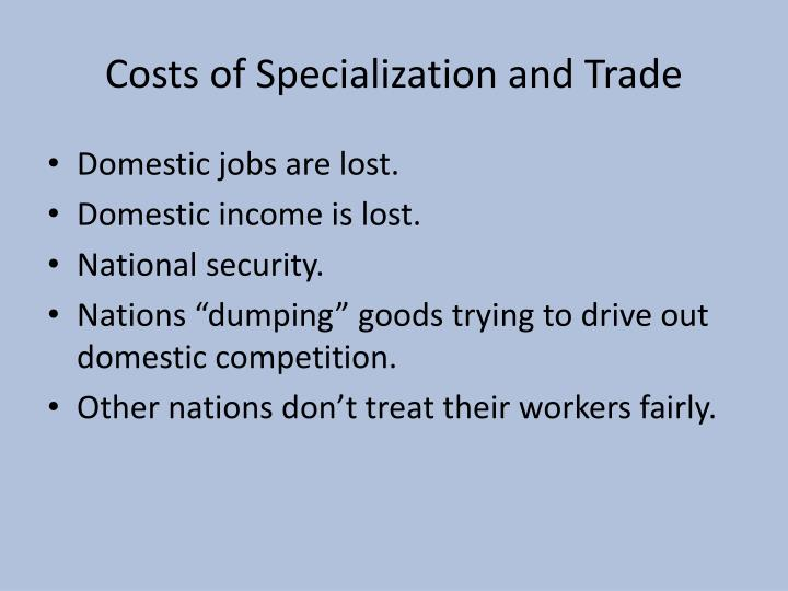 is job specialization really beneficial It is claimed that specialization should be postponed to a fifth year there was a specialization of labor, but, as yet, little division we may even set them down to ignorance rather than specialization of interest.