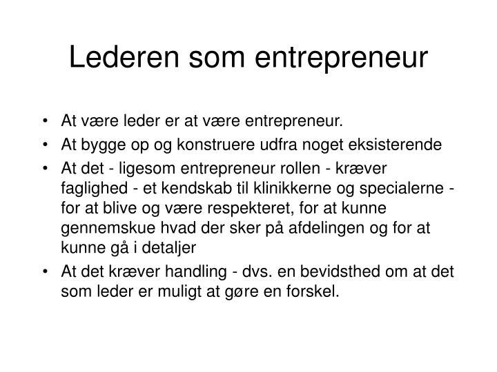 Lederen som entrepreneur